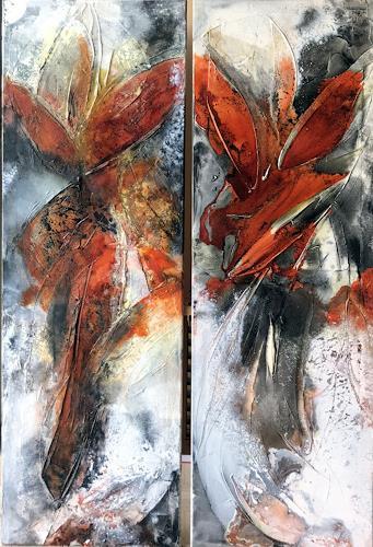 Maria und Wolfgang Liedermann, Die Wiederkehr ist der Weg des Sinns, Abstract art, Plants, Abstract Art