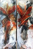 Maria-und-Wolfgang-Liedermann-Abstract-art-Plants-Modern-Age-Abstract-Art