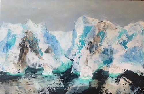 Maria und Wolfgang Liedermann, Grönland 2, Landscapes: Sea/Ocean, Landscapes: Mountains, Contemporary Art, Expressionism