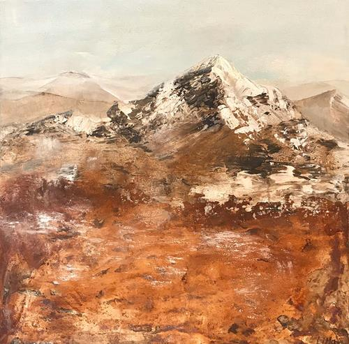Maria und Wolfgang Liedermann, Berg, Landscapes: Mountains, Contemporary Art, Expressionism