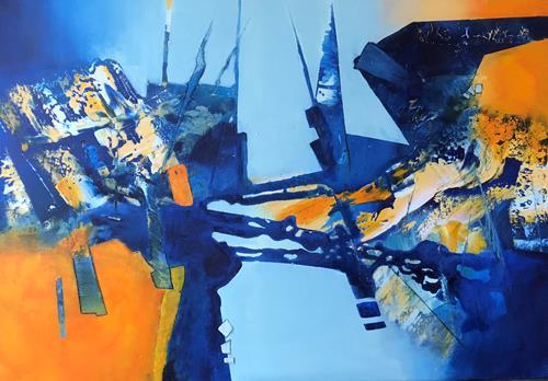 Maria und Wolfgang Liedermann, St. Louis Blues, Abstract art, Abstract Art, Abstract Expressionism