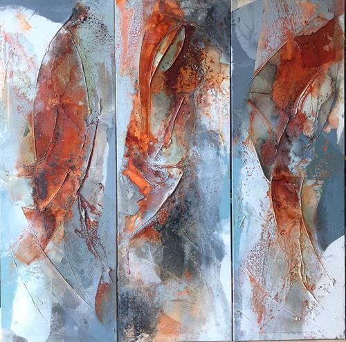 Maria und Wolfgang Liedermann, Rubin/Saphir/Smaragd, Abstract art, Plants, Contemporary Art