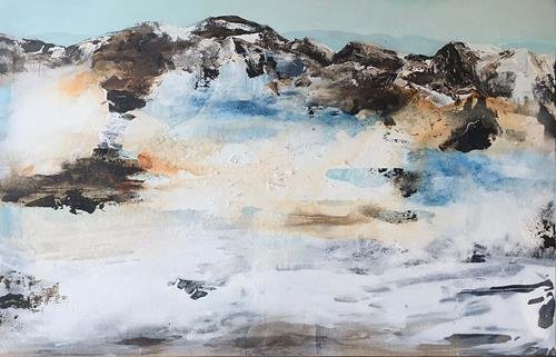 Maria und Wolfgang Liedermann, Berge 2, Landscapes: Mountains, Abstract art, Contemporary Art, Expressionism
