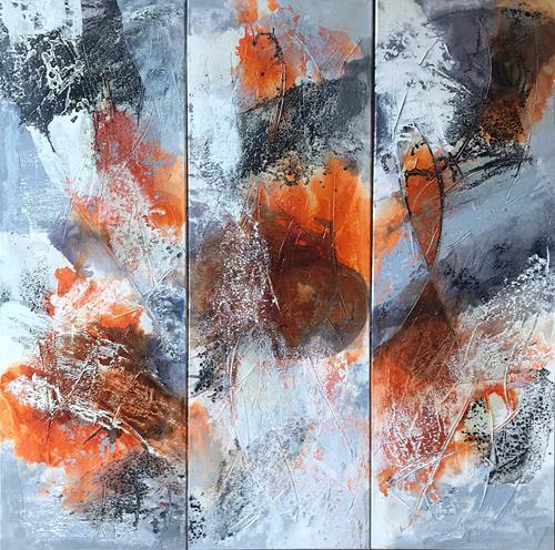 Maria und Wolfgang Liedermann, El Condor Pasa, Abstract art, Contemporary Art, Expressionism