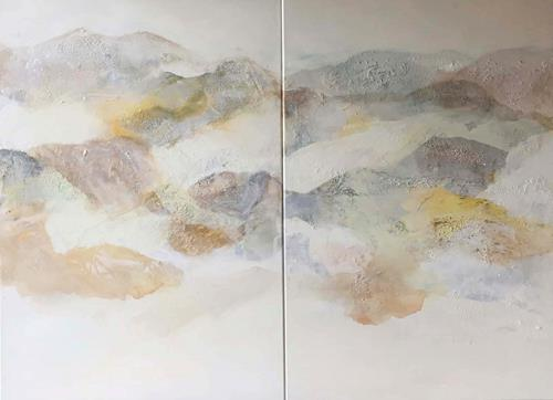 Maria und Wolfgang Liedermann, Nebelberge 5, Abstract art, Landscapes: Mountains, Contemporary Art