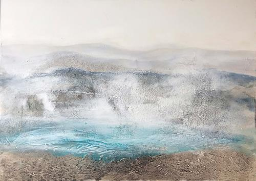 Maria und Wolfgang Liedermann, Bergsee im Nebel, Landscapes: Mountains, Abstract art, Contemporary Art