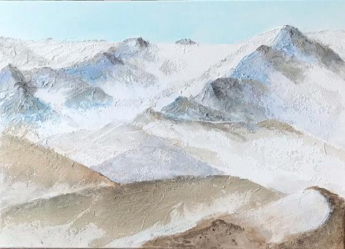 Maria und Wolfgang Liedermann, Im Hochgebirge, Landscapes: Mountains, Contemporary Art, Expressionism