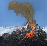 Maria-und-Wolfgang-Liedermann-Landscapes-Mountains-Nature-Fire-Contemporary-Art-Contemporary-Art