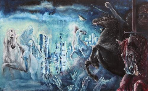 Edeldith, Apokalypse, Mythology, War, Expressive Realism