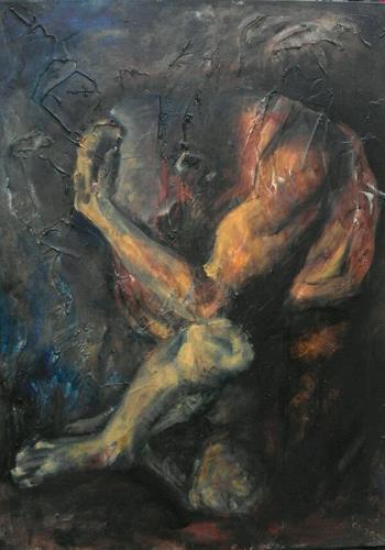 Edeldith, Der Täter und das Opfer, People: Men, Emotions, Expressive Realism, Abstract Expressionism