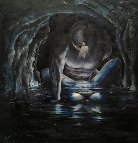 Edeldith, Anstieg des Wasserspiegels, Fantasy, Nude/Erotic motifs, Symbolism, Abstract Expressionism