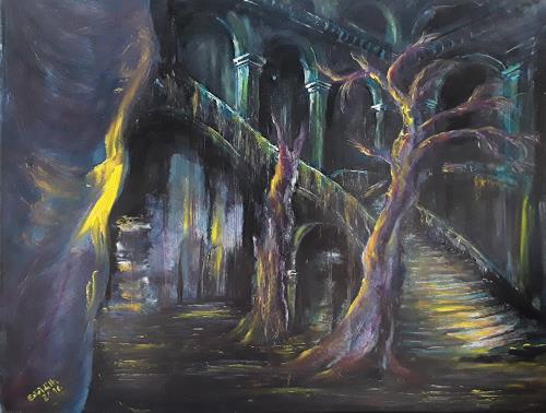 Edeldith, Das Glühen der Zeit, Fantasy, Mythology, Contemporary Art