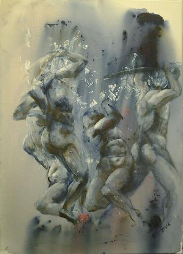 Edeldith, Die Göttlichen, Erotic motifs: Male nudes, War, Expressive Realism, Abstract Expressionism