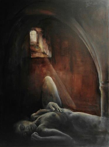 Edeldith, Danae, Mythology, Erotic motifs: Female nudes, Expressive Realism
