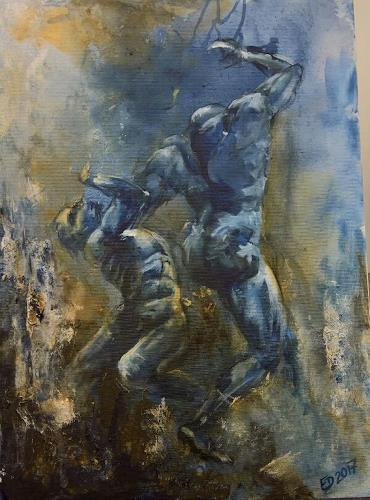 Edeldith, Draussen vor der Stadt, People, Emotions, Expressive Realism, Abstract Expressionism