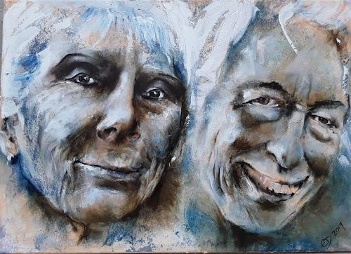 Edeldith, Portrait, People: Portraits, People: Couples, Expressive Realism, Abstract Expressionism