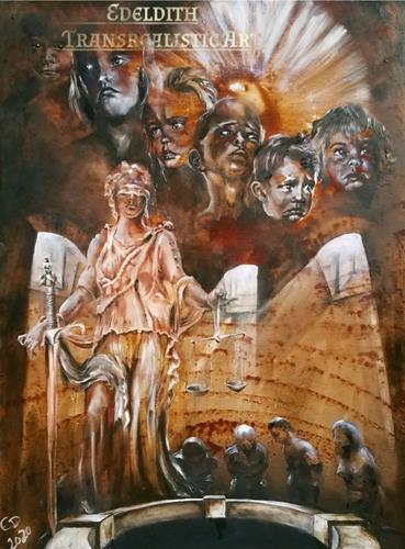 Edeldith, Tag des Gerichts / Judgment day, Society, War, Post-Surrealism, Abstract Expressionism