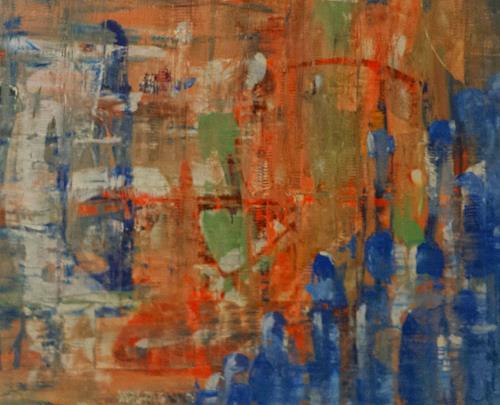 Jo, Blauer Klaus, Abstract art
