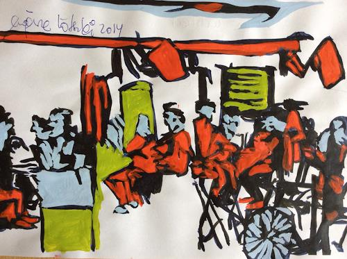 eugen lötscher, sternen zürich oerlikon, august 2014, People: Group, Society, Contemporary Art, Abstract Expressionism