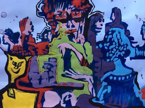 eugen lötscher, 5. oktober 2014, kunsthaus zürich, kaffeeteria, Animals: Land, People: Group, Contemporary Art