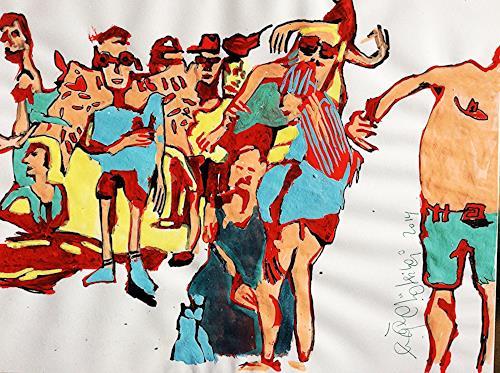 eugen lötscher, street parade zürich, august 2014, Leisure, Parties/Celebrations, Contemporary Art, Abstract Expressionism