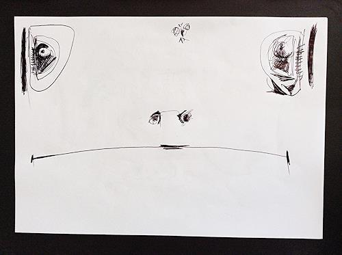 eugen lötscher, telefonzeichnung, schnapp sie dir, 18. november 2014, Hunting, Meal, Contemporary Art