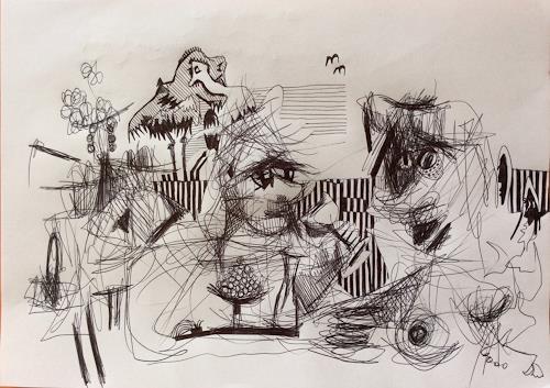 eugen lötscher, oh Signorina, Sie bewegen sich soooo schön, 9. mai 2015, People, People, Contemporary Art, Abstract Expressionism