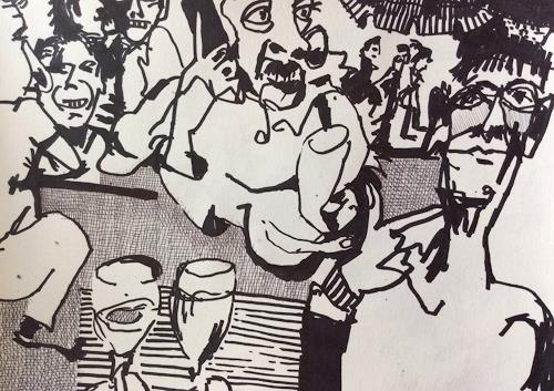 eugen lötscher, flohmarkt mit Philip, 12. september 2015, Market, People, Contemporary Art, Abstract Expressionism