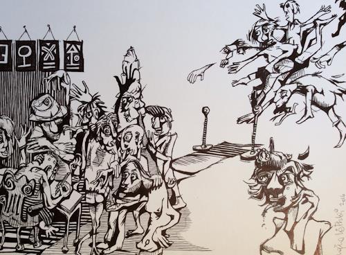 eugen lötscher, KÜNSTLERTRÄUME, 25. november 2015, Humor, People, Contemporary Art