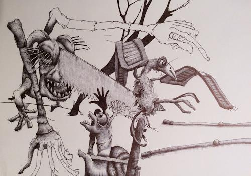 eugen lötscher, die türe, 16. dezember 2016, People, People, Contemporary Art, Abstract Expressionism