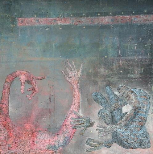 eugen lötscher, please listen, Fantasy, Miscellaneous Landscapes, Contemporary Art, Abstract Expressionism