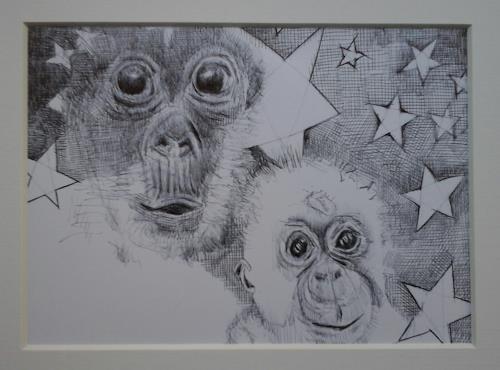 eugen lötscher, frohe festtage!, Miscellaneous Animals, Emotions: Joy, Abstract Art