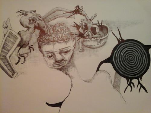 eugen lötscher, aus der hosentasche ..., People, Society, Contemporary Art