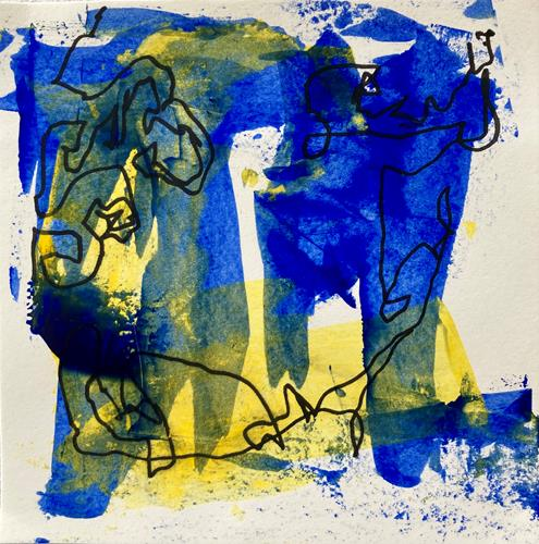Remo Passeri, colorata 5, Abstract art, Abstract Art, Abstract Expressionism