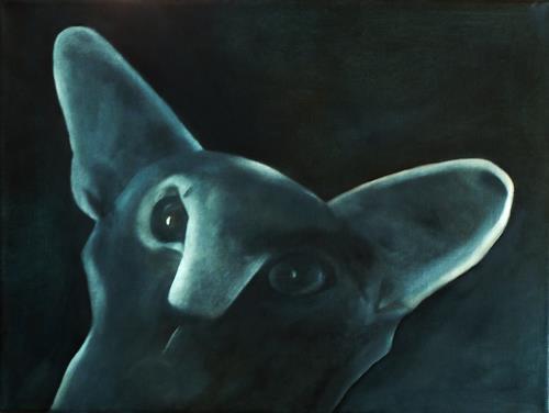 Hanna Rheinz, Ich sehe Dir in die Augen, Animals, Fantasy, Expressive Realism, Abstract Expressionism
