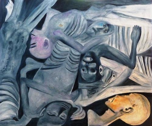 Hanna Rheinz, Nach dem Morden, People, War, Contemporary Art, Abstract Expressionism