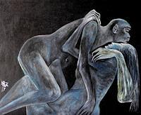 Hanna-Rheinz-People-Couples-Miscellaneous-Erotic-motifs-Contemporary-Art-Contemporary-Art