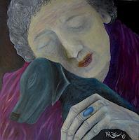 Hanna-Rheinz-People-Women-Animals-Land-Modern-Age-Expressive-Realism