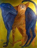Hanna-Rheinz-Animals-Land-Emotions-Love-Modern-Age-Expressive-Realism