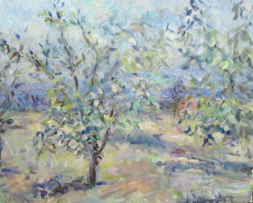 Barbara Schauß, Sommertag, Landscapes: Summer, Post-Impressionism