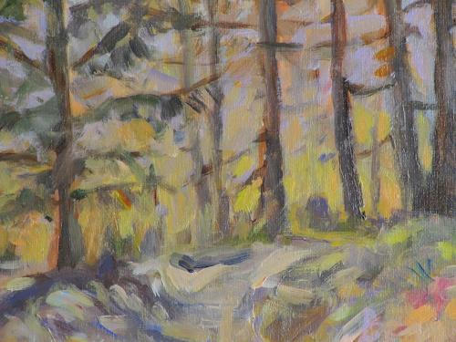 Barbara Schauß, Waldweg, Nature: Wood, Impressionism