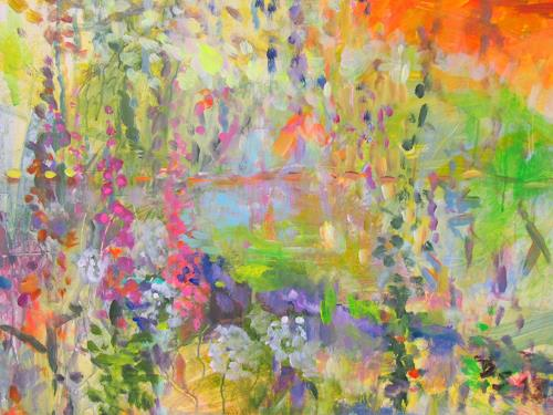 Barbara Schauß, secret garden II, Nature, Plants, Post-Impressionism