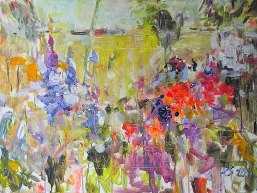 Barbara Schauß, secret garden I, Nature, Plants, Contemporary Art, Expressionism