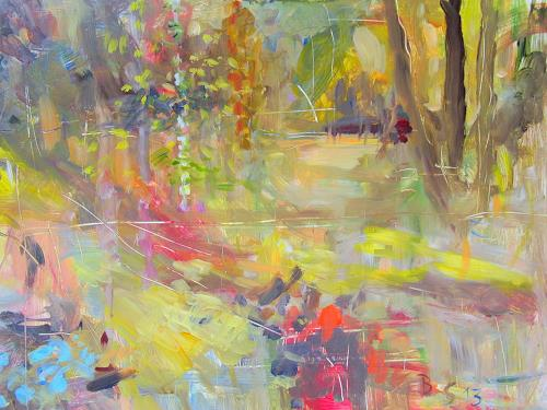 Barbara Schauß, secret garden III, Nature, Plants: Flowers, Impressionism, Expressionism