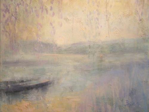 Barbara Schauß, Morgenstimmung am Fluss, Miscellaneous Landscapes, Nature: Water, Post-Impressionism