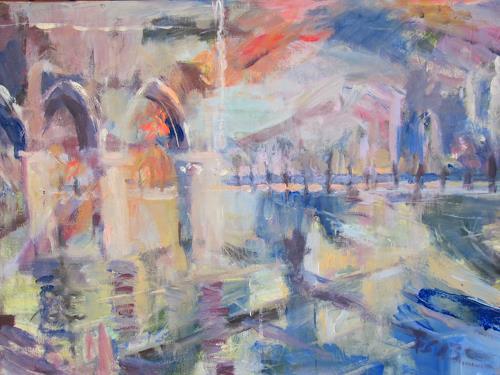 Barbara Schauß, Venezia II, Architecture, Abstract art, Contemporary Art, Expressionism