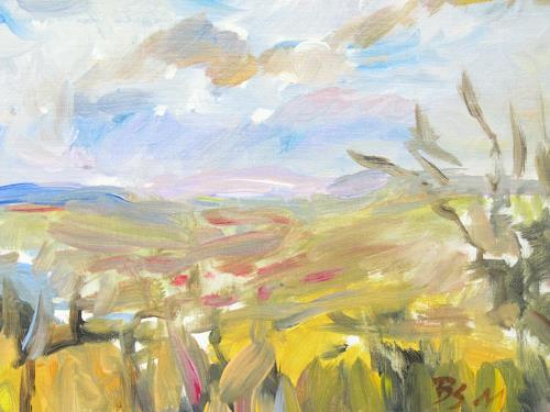 Barbara Schauß, Herbstimpression, Landscapes, Nature, Post-Impressionism