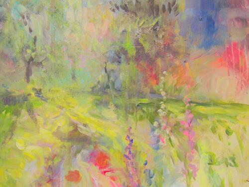 Barbara Schauß, Secret Garden IV, Nature, Plants, Impressionism