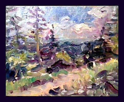 Barbara Schauß, Sommer im Gebirge, Nature, Landscapes: Mountains, Post-Impressionism