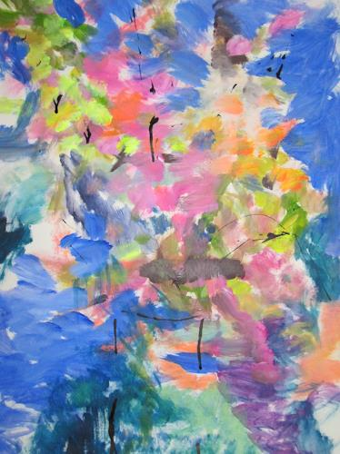 Barbara Schauß, wild flowers, Plants: Flowers, Nature, Abstract Expressionism